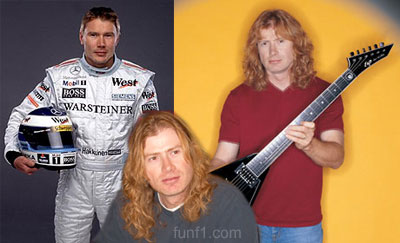 Look-alike: Mika Hakkinen vs Dave Mustaine