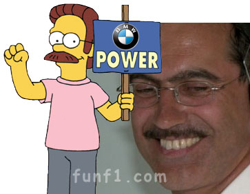 BMW's Dr Mario Theissen vs Ned Flanders