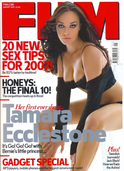 Tamara Ecclesone - FHM cover January 2007