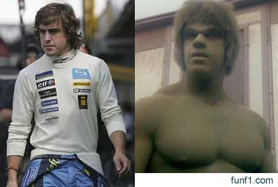 Fernando Alonso vs The Incredible Hulk 1