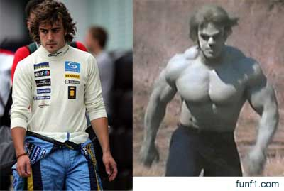 Fernando Alonso vs The Incredible Hulk 2