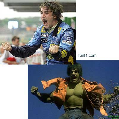 Fernando Alonso vs The Incredible Hulk 3