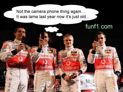 Lewis Hamilton with Heikki Kovalainen