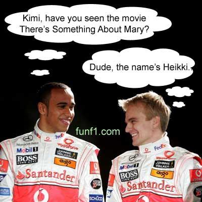 Lewis Hamilton confuses Heikki Kovalainen with Kimi