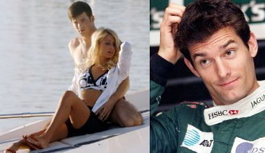 Mark Webber with Paris Hilton