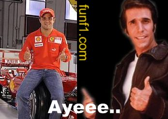 Felipe Massa vs The Fonz from Happy Days