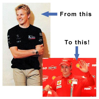 Kimi Raikkonen's new Ferrari uniform is a serious wardrobe malfunction!