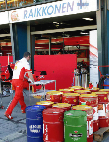 Kimi Raikkonen's Fuel / Drink Supply