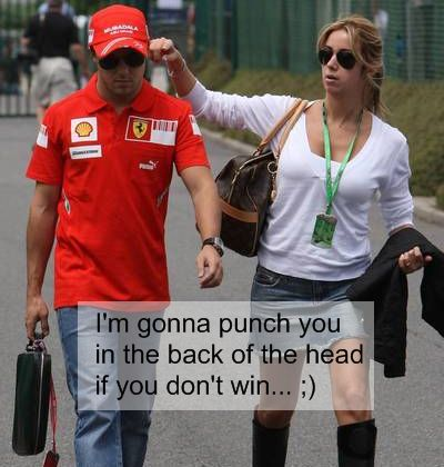 Felipe Massa punch girl